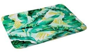 Deny Designs Marta Barragan Camarasa Banana Leaf Bath Mat Green/Leaf