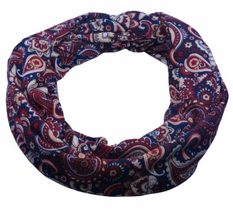 Sincerely For You Sincerelyforyou - Infinity Loop Scarf Women Winter Scarves Tube Scarf Paisley Design Neck Warmer Snood (Burgundy)