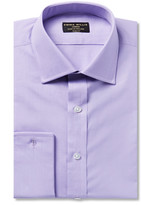 Emma Willis - Lilac Slim-fit Double-cuff Cotton Shirt