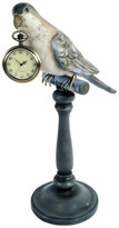 Expo Decor Perching Parrot With Pocket Watch