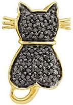 DazzlingRock Collection 0.25 Carat (ctw) 14k Yellow Gold Diamond Ladies Cat Pendant