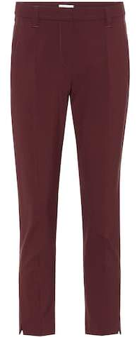 Brunello Cucinelli Cropped stretch wool pants