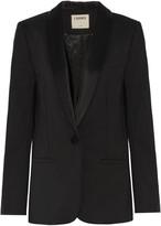 L'Agence Antoni satin-trimmed crepe blazer