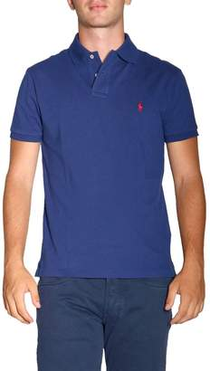 Polo Ralph Lauren T-shirt Short Sleeve Custom Fit Polo Shirt In Cotton With Embroidered Logo
