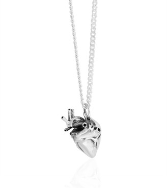 Strange Fruit Small Heart Pendant Silver