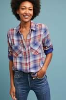 Cloth & Stone Split-Back Plaid Shirt