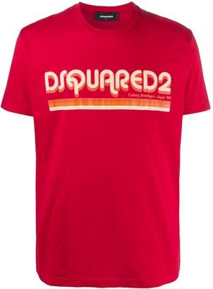 DSQUARED2 logo-print slim-fit T-shirt