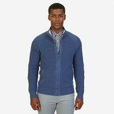 Nautica Raglan Zip-Front Sweater