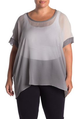 Eileen Fisher Draped Silk Box Top (Plus Size)
