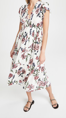 BB Dakota Elegant Domain Bloom Print Midi Dress