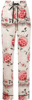 RED Valentino floral-print pyjama-style trousers