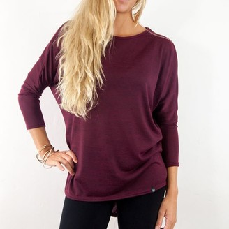 Watershed Brand - Ladies Dropped Hem Jersey Red Wine - red wine | SIZE 8-10 | polyester - Red wine