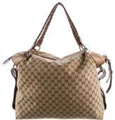 Gucci GG Canvas Bamboo Bar Bag