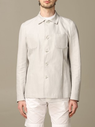 Havana & Co. Havana Co. Casual Jacket In Cotton And Linen