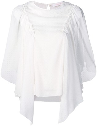 See by Chloe Embellished Draped Blouse