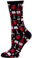 Hot Sox Women's Wine Crew Trouser Sock