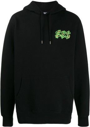 SSS World Corp Dollar Fire-print hoodie