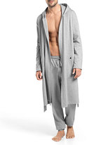 Hanro Luis Hooded Wrap Robe, Gray