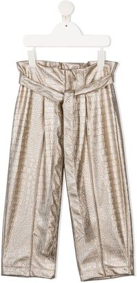 Mariuccia Milano Kids Tie-Fastening Ruched Trousers