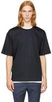 3.1 Phillip Lim Navy Pinstripe Box Cut T-Shirt