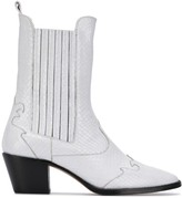 Paris Texas snakeskin effect cowboy boots