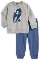 Tea Collection Infant Boy's Year Of The Monkey Sweatshirt & Pants Set