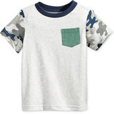 First Impressions Camo-Sleeve T-Shirt, Baby Boys (0-24 months), Only at Macy's
