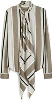 Mulberry Adelaide Blouse Grey Striped Twill