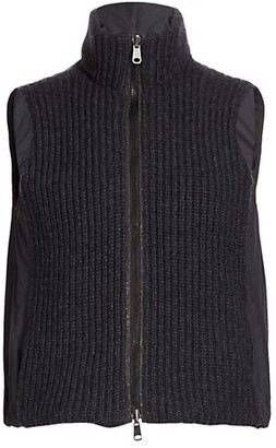 Brunello Cucinelli Ribbed Cashmere & Nylon Reversible Vest