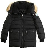DSQUARED2 Hooded Nylon Down Parka W/ Coyote Fur