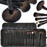 Moonight 24 Pieces Makeup Brushes Set - Black