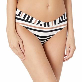 Jets Women's Vista Stripe Banded Bikini Bottom Swimsuit