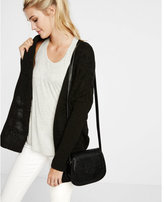 Express cross back cable knit cover-up
