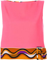 Emilio Pucci printed belt tank - women - Silk/Spandex/Elastane/Virgin Wool - 38