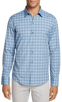 Zachary Prell Senter Grid Check Slim Fit Button-Down Shirt