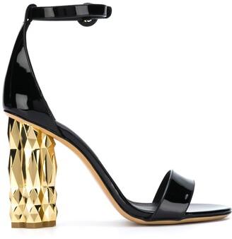 Salvatore Ferragamo contrast block heel sandals