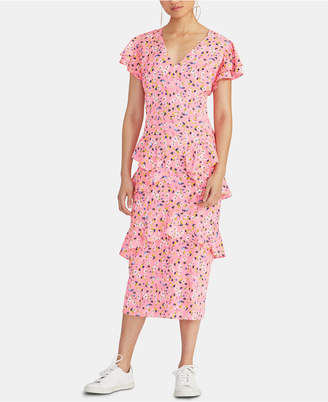 Rachel Roy Fabianne Ruffled Midi Dress