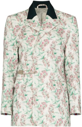 Charles Jeffrey Loverboy Floral Print Single Breasted Blazer