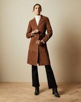 Ted Baker Suede Belted Coat