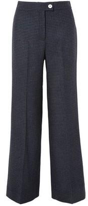 ALEXACHUNG Houndstooth Wool-blend Felt Wide-leg Pants