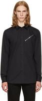 Givenchy Black Zipper Collar Shirt
