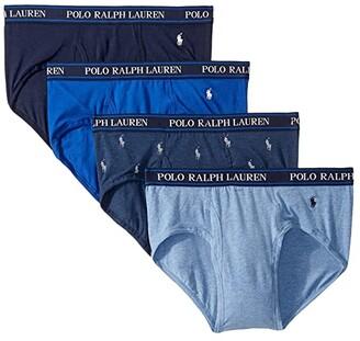 Polo Ralph Lauren 4-Pack Stretch Classic Fit Briefs (Blue Saturn/Monroe Blue Heather/Pale Royal Heather/Cruise Navy) Men's Underwear