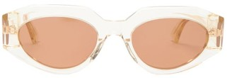 Bottega Veneta Angular Cat-eye Acetate Sunglasses - Clear