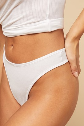 Negative Underwear Cotton Thong in White