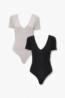 Forever 21 V-Neck Bodysuit Set
