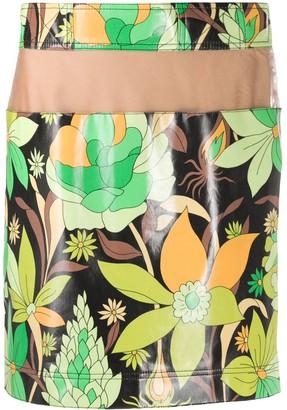 Fendi Floral Print Mini Skirt