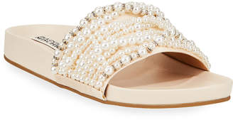 Badgley Mischka Florence Pearly Slide Sandals