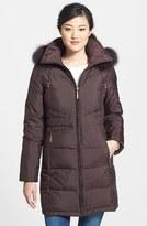 Ellen Tracy Women's Genuine Fox Fur Trim Down Parka