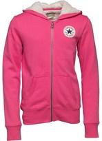 Converse Girls Sherpa Lined Hoody Mod Pink
