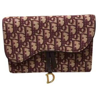 Christian Dior Saddle Burgundy Cotton Clutch bags